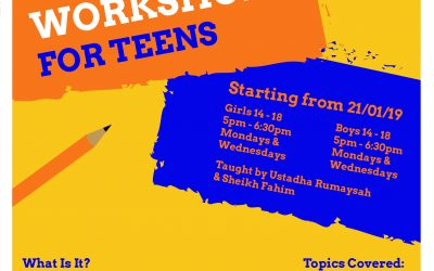 Islamic Workshop For Teens (Closed)
