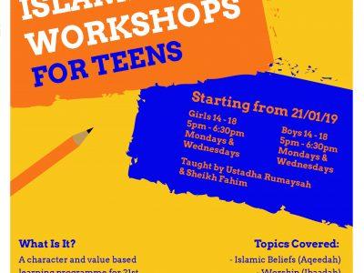 Islamic Workshop For Teens