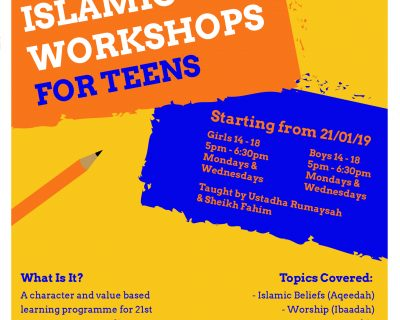 Islamic Workshop For Teens