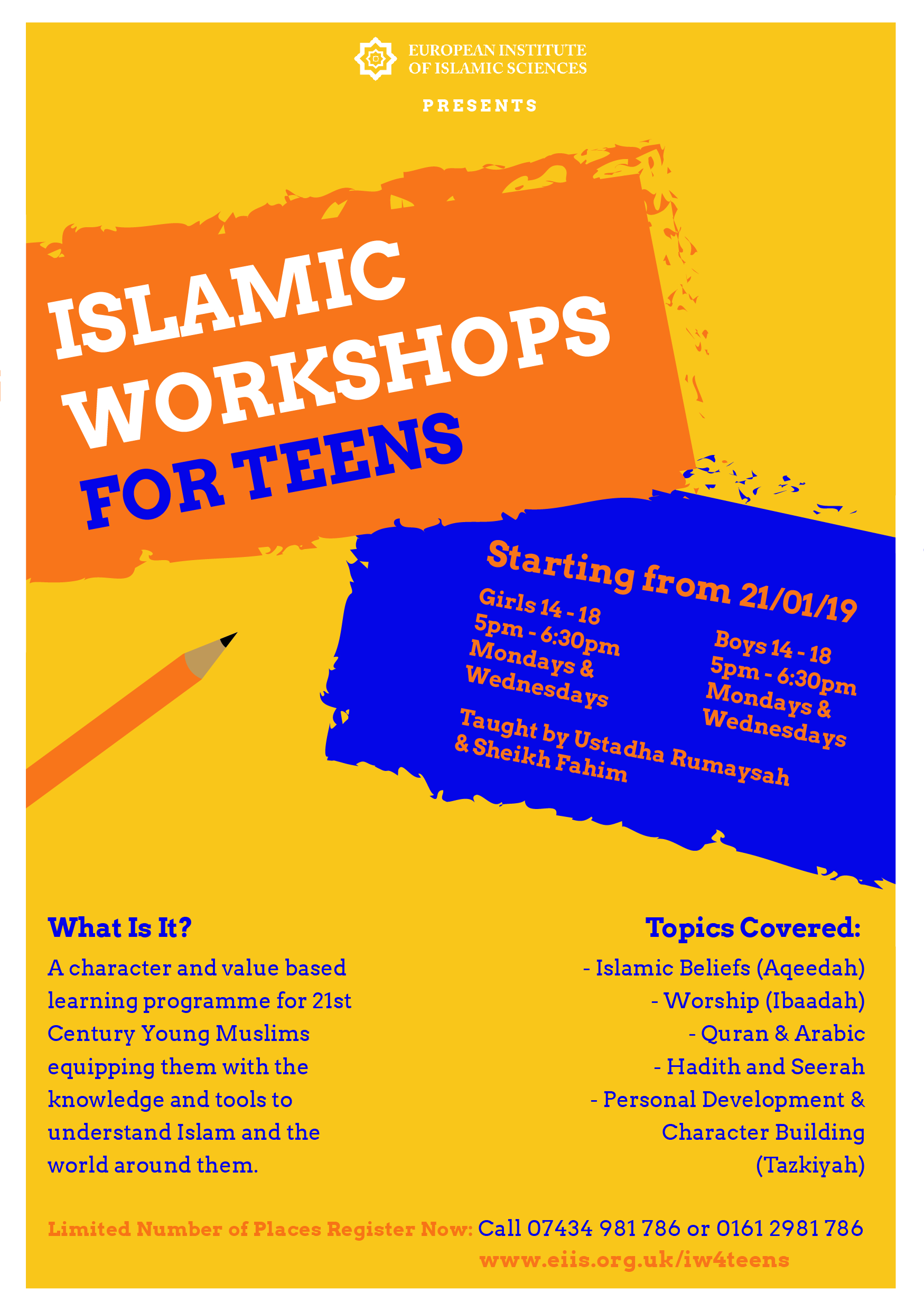 Teens Islamic Workshop front final